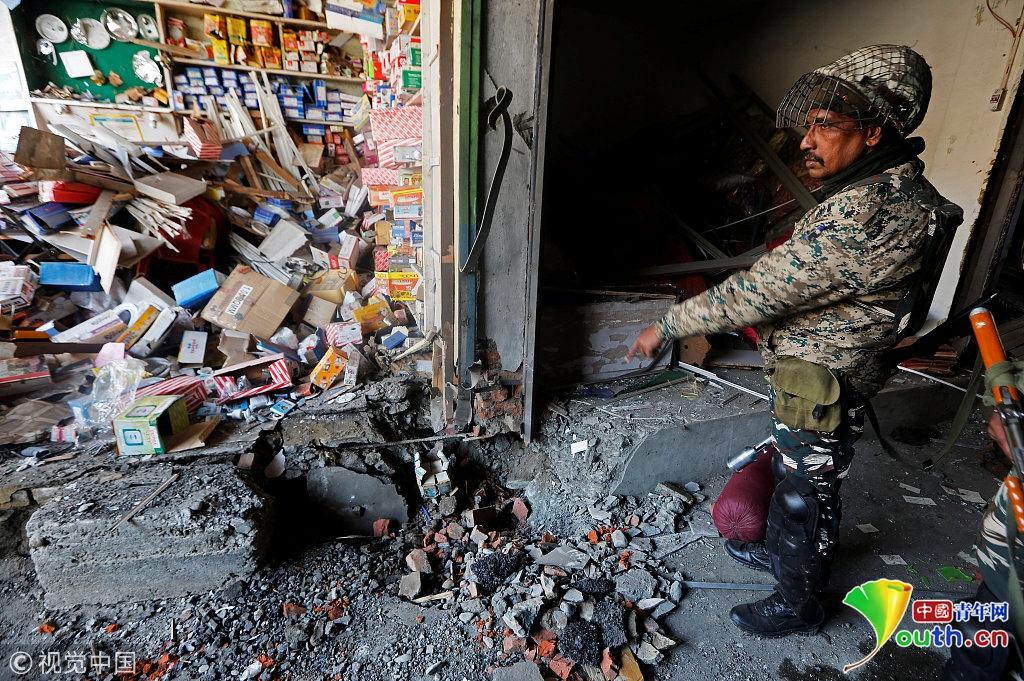 印控克什米尔一市场发生爆炸 4名警察丧生