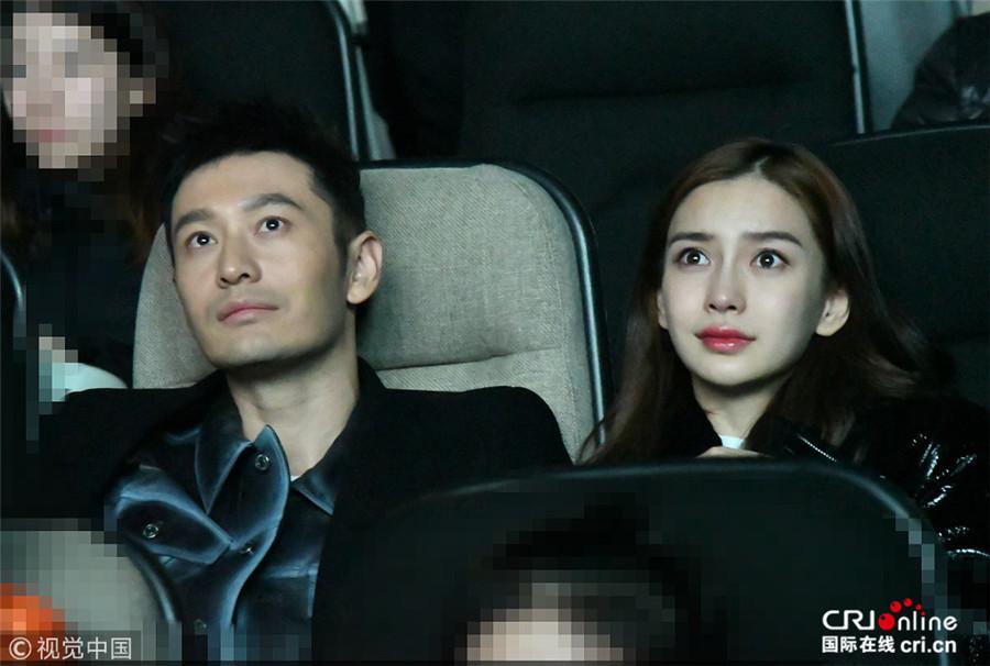 黄晓明为新电影宣传 baby和婆婆并排而坐哭成泪人