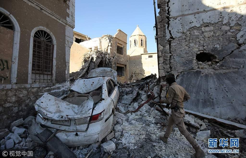 摩苏尔老城被解放六个月 战争创伤触目惊心