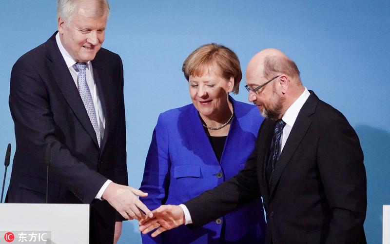 德国迎来组阁重大突破 基民盟同社民党已达成共识