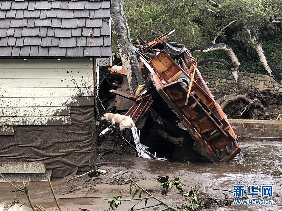 美国加州泥石流灾害导致至少17人死亡