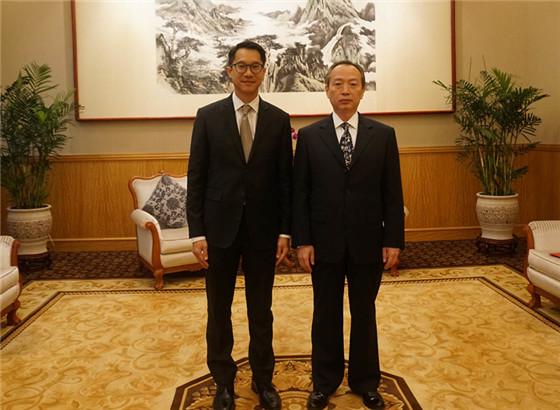 袁恒革副特派员会见泰国和缅甸驻香港总领事