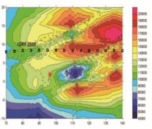 图2 地震空间电磁扰动