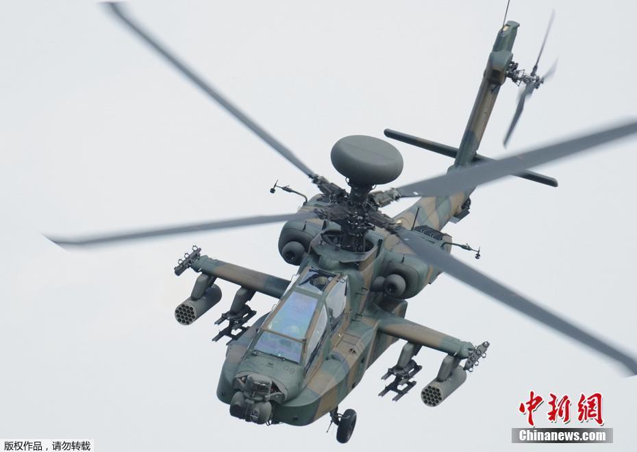 日本自卫队直升机在一学校附近坠毁 引发火情