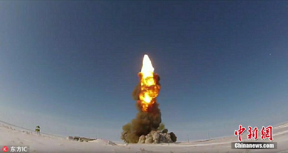 俄罗斯宣布成功试射反导导弹 现场画面震撼