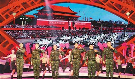 武警官兵团拜迎新春