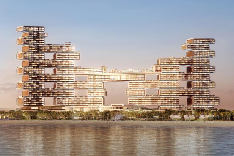 迪拜新地标酒店将开业 空中泳池惊险炫酷