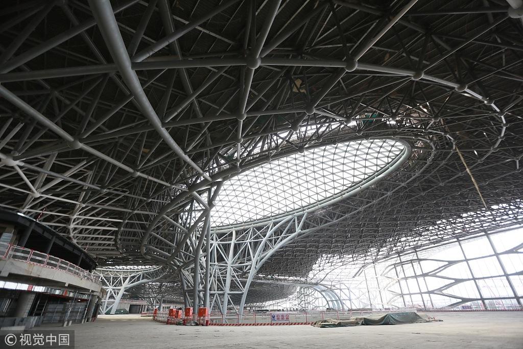 北京新机场凤凰展翼 画面如未来电影令人惊叹