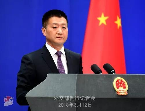 ▲3月12日,中国外交部发言人陆慷主持例行记者会。
