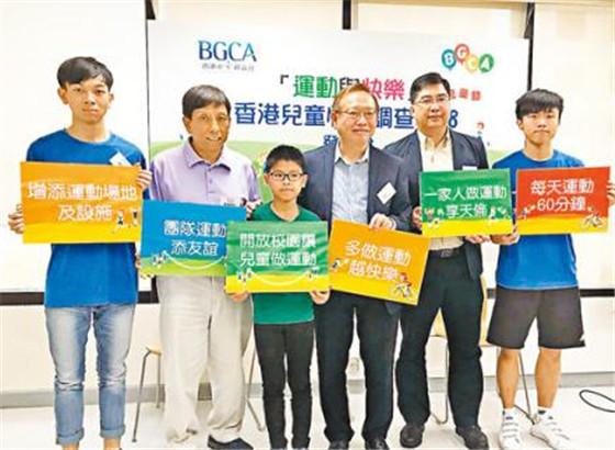 香港6到8岁儿童快乐程度连降两年 与读书压力有关