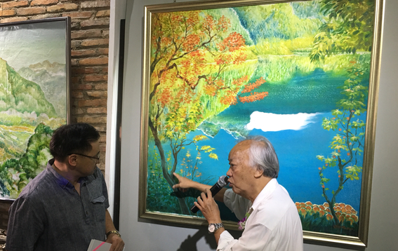 新加坡著名华裔油画家曾庆昌个展在马六甲举行