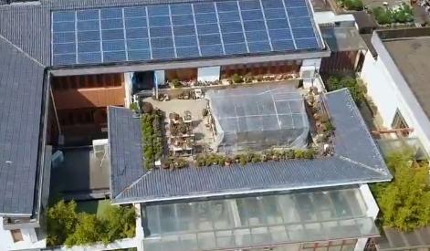 """老人用4年时间建了一座""""空中爱心花园"""""""