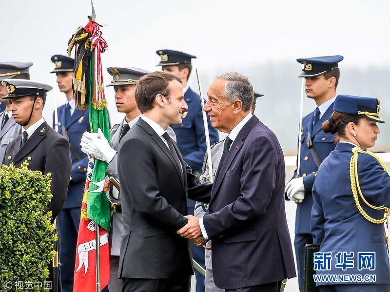 法葡两国总统出席一战纪念仪式 纪念利斯战役百年