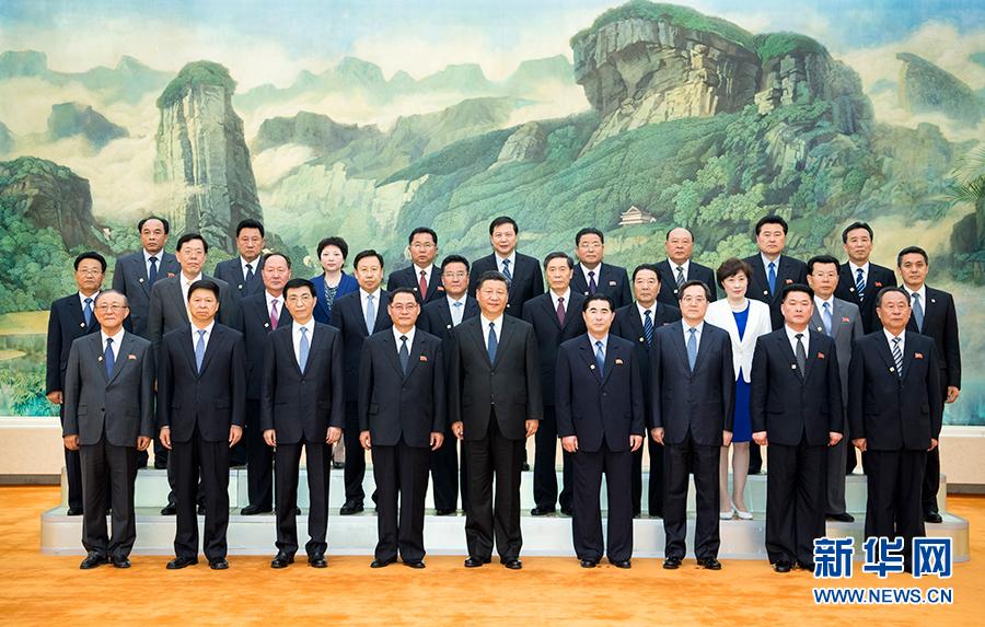 习近平会见朝鲜劳动党友好参观团 (组图)