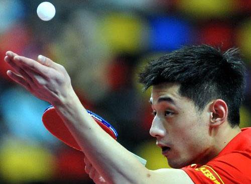香港乒乓球公开赛张继科险胜晋级正赛