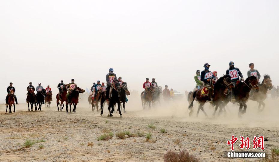 甘肃肃北县牧民夏日祭敖包 赛马、拔河欢乐无穷