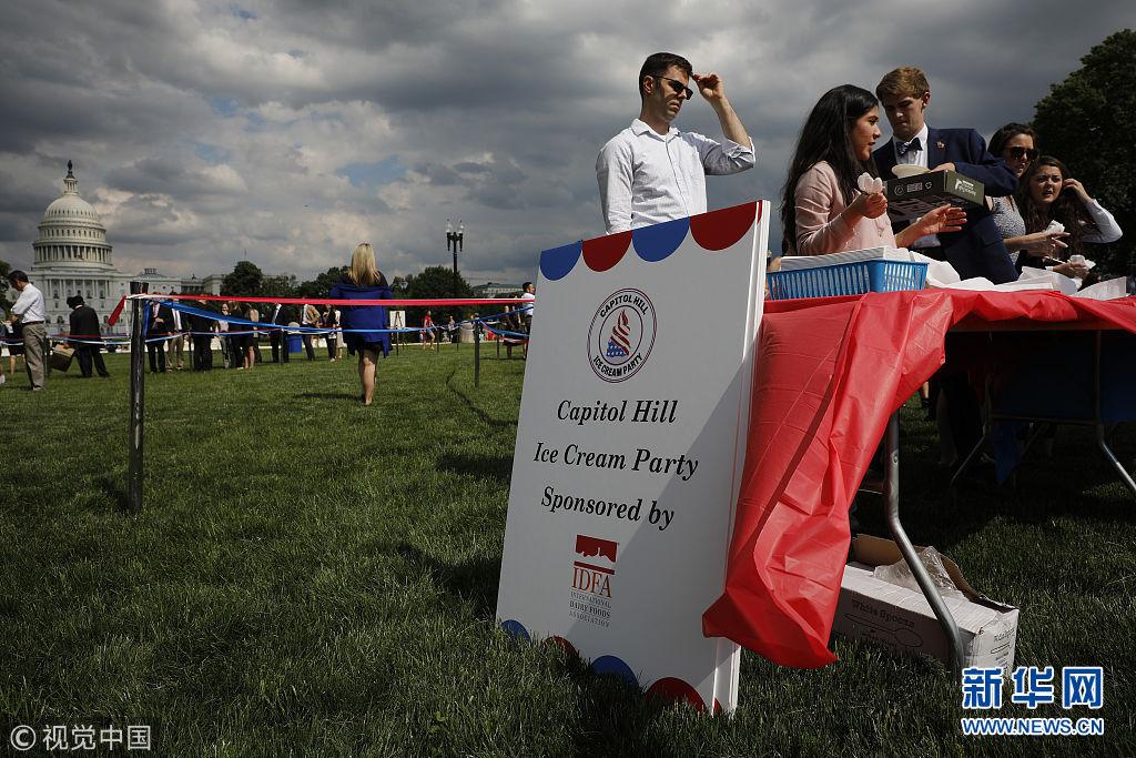 美国举办国会山年度冰激凌派对