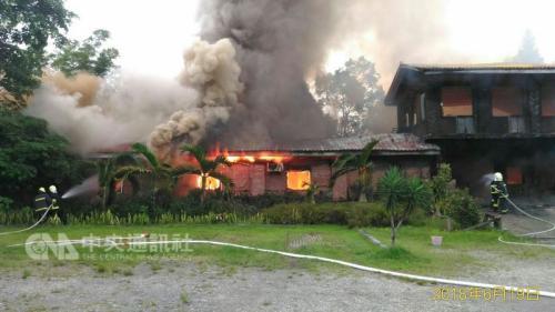尴尬!台湾花莲救灾灭火消防队跑错地方