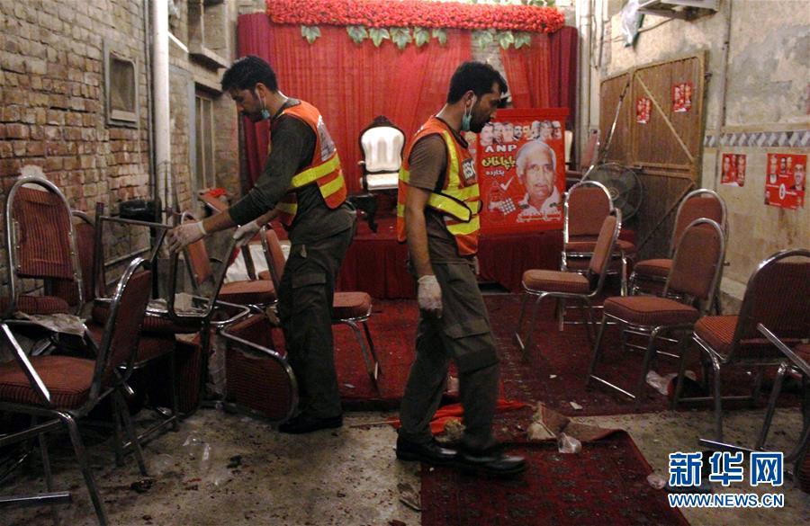 巴基斯坦一政治集会遭自杀式爆炸袭击13人死亡