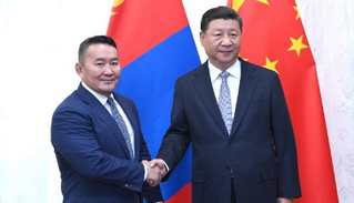 习近平会见蒙古国总统巴特图勒嘎