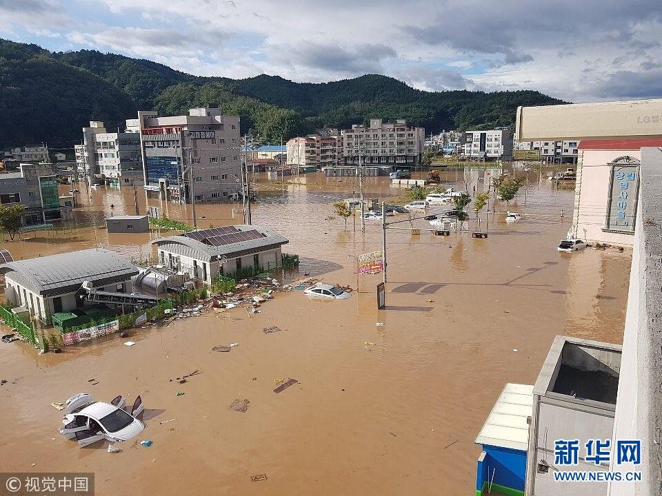 """台风""""康妮""""登陆韩国 带来大风及强降雨天气"""