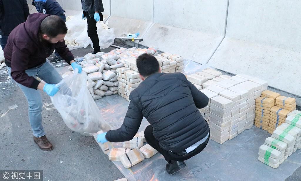 土耳其警方查获超一吨海洛因