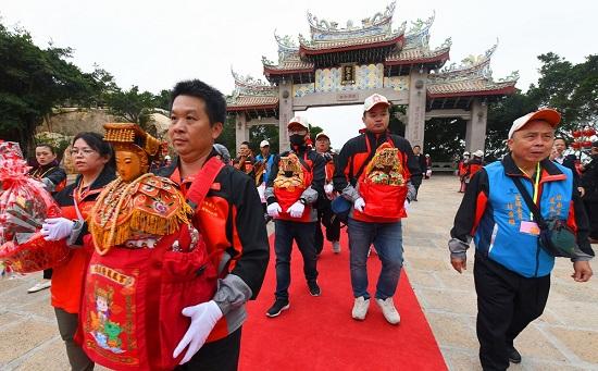 台湾三百余位妈祖信众回湄洲妈祖祖庙谒祖进香