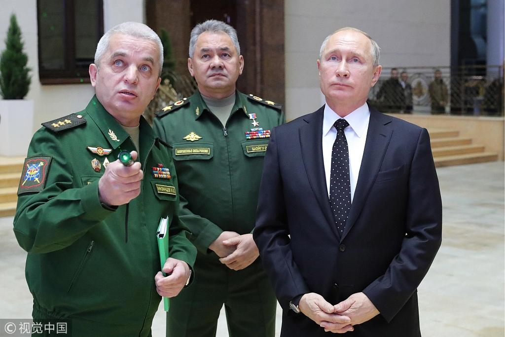 普京:美退出《中导条约》会让军备监控系统崩溃