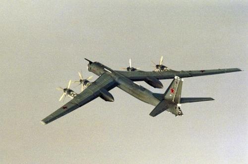 资料图:俄罗斯图-95轰炸机(图片来源:路透社)