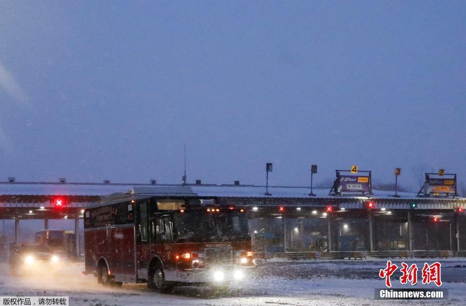 极寒天气横扫美国 暴雪已导致纽约高速公路封闭