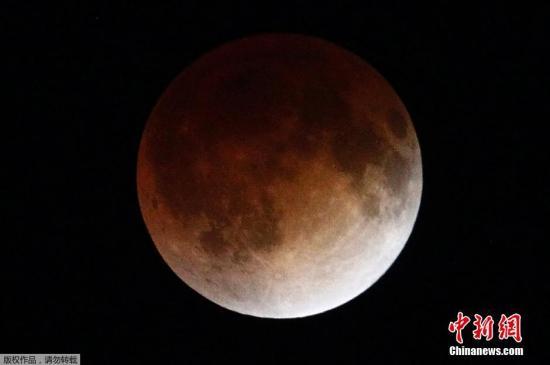 """资料图片:""""血月""""景观。"""