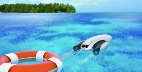 臻迪PowerDolphin小海豚CES正式亮相,比奥运游泳冠军还要快的水上机器人-