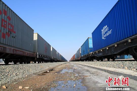 """去年1至12月底,""""长满欧""""班列进出口合计26538标箱,承运进出口货值超9.91亿美元。长春国际陆港发展有限公司供图"""