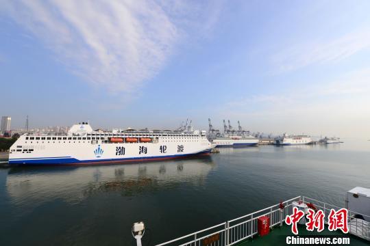 渤海海峡省际客船因大风两度停航(图)