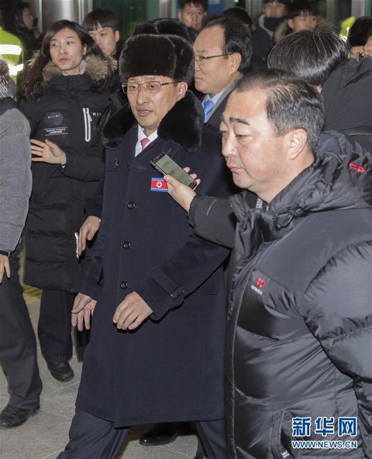 朝鲜冬奥体育代表团抵达韩国 平昌冬奥大幕即将拉开