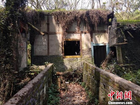 图为村落中废弃已经的破老屋。 马佳欣 摄