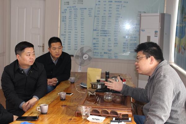 仙居台创园管委会负责人与台商吴宗哲亲切交流
