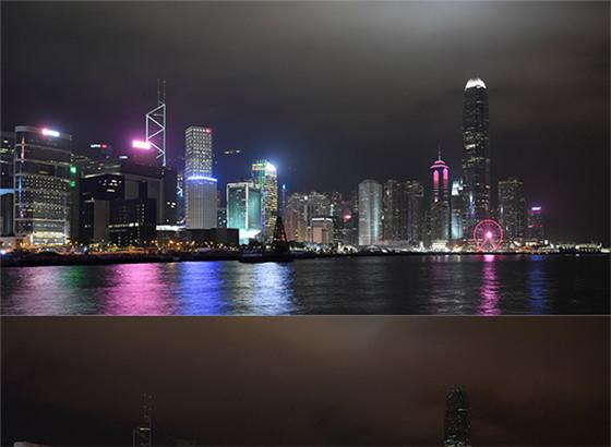 """香港多座建筑熄灯 响应""""地球一小时""""行动"""