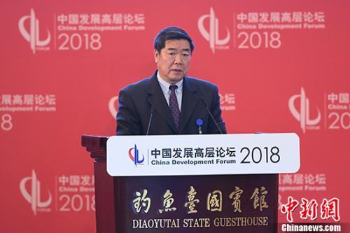 3月25日,全国政协副主席、国家发展和改革委员会主任何立峰在北京举行的中国发展高层论坛上发言。 <a target=&#39;_blank&#39; href=&#39;http://www.chinanews.com/&#39;>中新社</a>记者 崔楠 摄