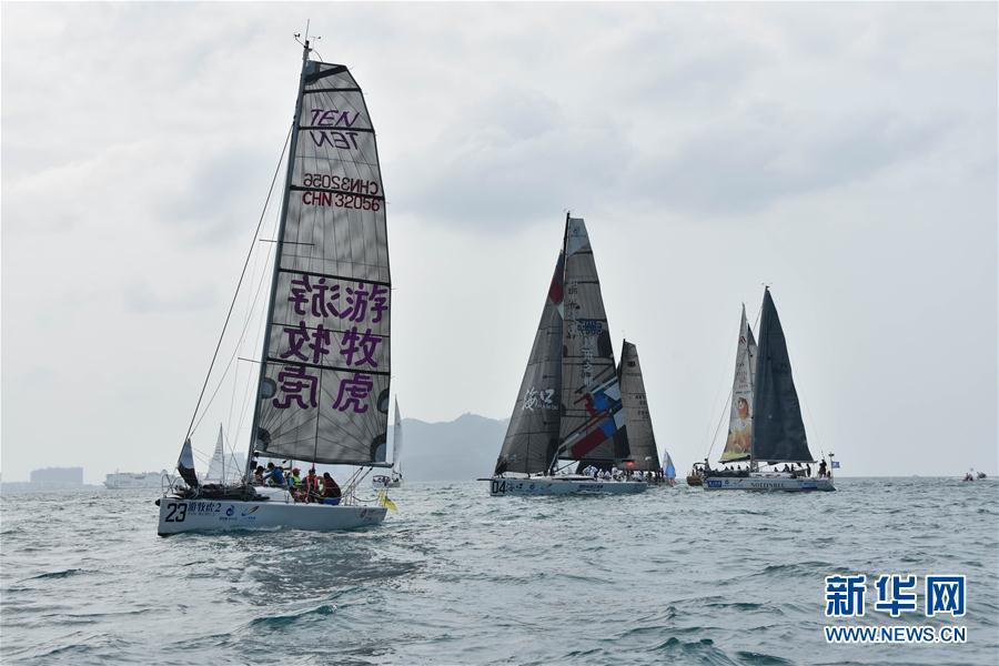 (体育)(4)帆船——2018环海南岛国际大帆船赛开幕