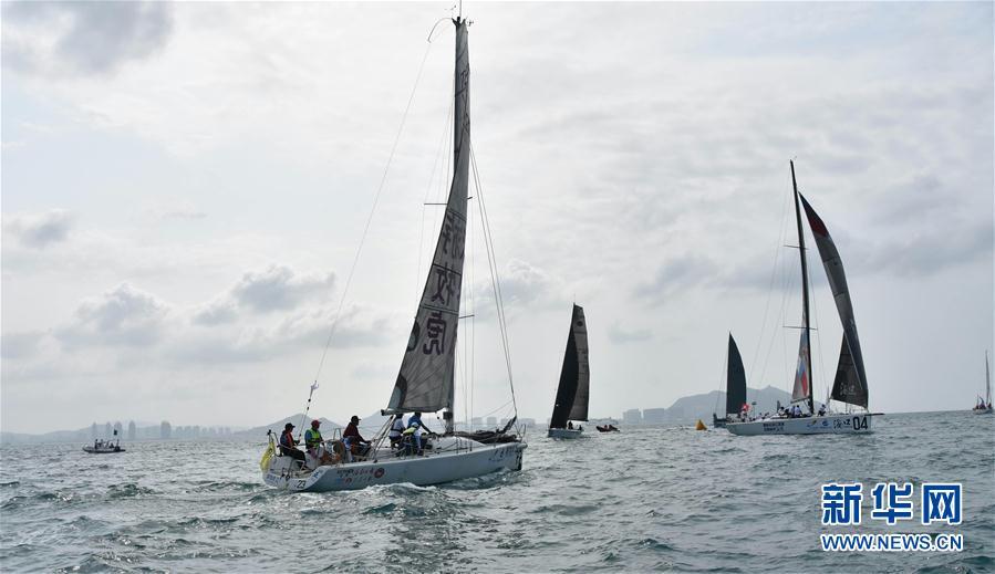 (体育)(2)帆船——2018环海南岛国际大帆船赛开幕