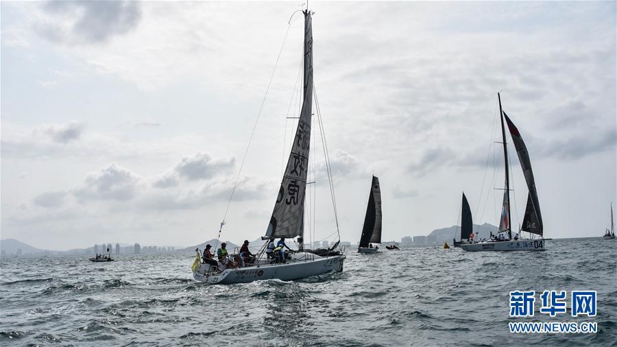 (体育)(5)帆船——2018环海南岛国际大帆船赛开幕