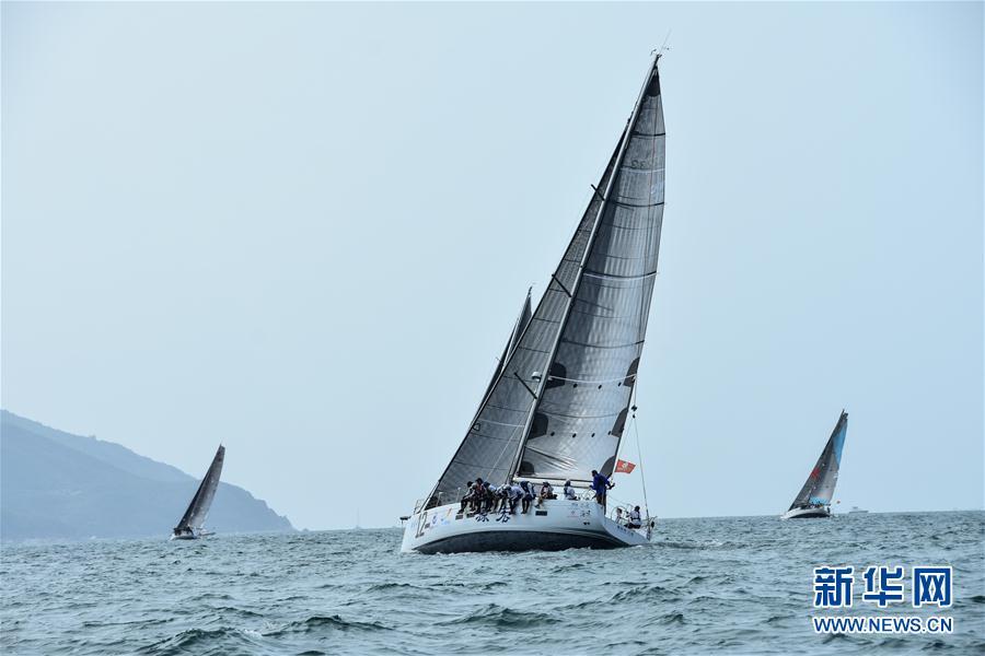 (体育)(6)帆船——2018环海南岛国际大帆船赛开幕