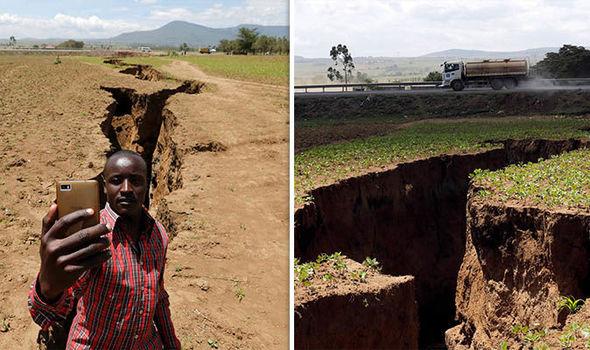 肯尼亚出现巨大裂痕 民众:亲眼目睹房子一分为二