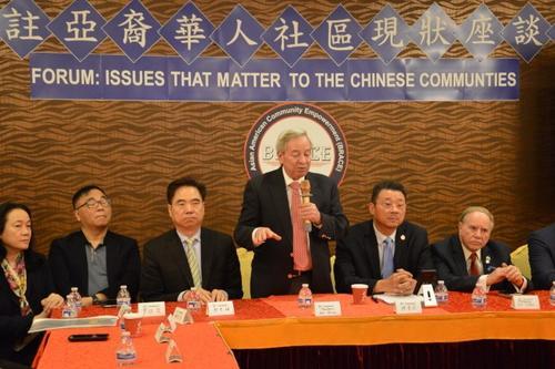 中国侨网白彼得反对取消特殊高中入学考试。(美国《世界日报》/牟兰 摄)