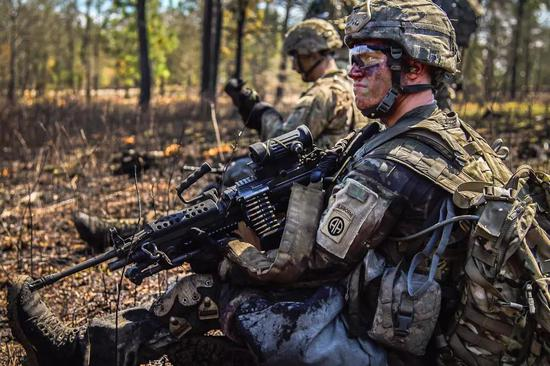 ▲演习中的美军士兵