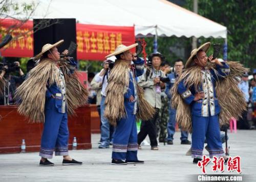 图为祭祀大典特色民俗表演现场。 俞靖 摄