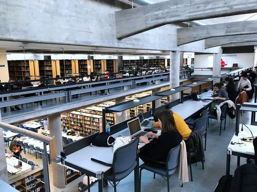 资料图片:这是2017年11月28日拍摄的西班牙马德里自治大学内的一处图书馆。新华社记者 郭求达 摄