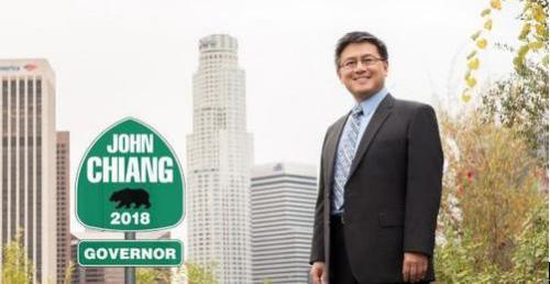 竞选加州州长的加州现任财务长江俊辉,近来连续获主流媒体背书支持。(江俊辉竞选办公室提供)