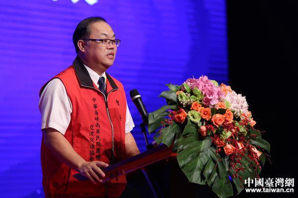 台湾中华海峡两岸民间团体交流促进协会会长吴一昌。(中国台湾网 袁楚 摄)